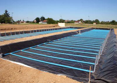 construction station eaux usées commune de Damazan