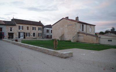 Création d'un parking dans le bourg communal de Saussignac (24)